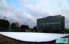 公司内雪中美景