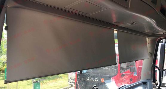 上久遮阳配套东风商用车遮阳帘之D760安装效果展示